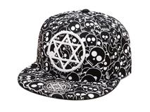 凯维帽业-可爱骷髅头平板帽定制-PJ019