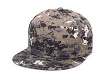 凯维帽业-小格子迷彩平板帽 -PM028