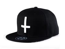 凯维帽业-纯色十字架平沿帽定做-PJ033