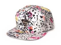 凯维帽业-豹纹贴牌平板帽 -PT039