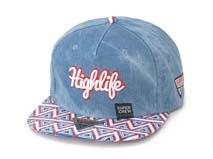 凯维帽业-牛仔布拼接嘻哈帽·定做-PM041