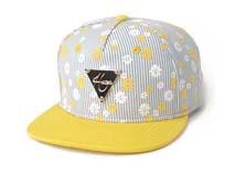 凯维帽业-条纹拼接平沿帽定做-PM042