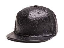 凯维帽业-蛇皮黑色平板帽定制-PP045