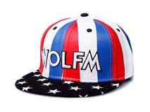 凯维帽业-法国国旗蓝红白平板帽定做 -PJ054