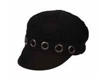 黑白视频体育直播-黑色女士时装帽定做-ST019
