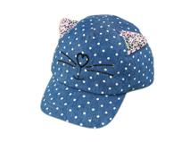 凯维帽业-儿童点点小花猫棒球帽定做-RM036