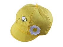 凯维帽业-儿童黄色户外小瓜皮帽定做-RT037