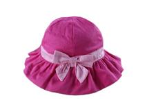 凯维帽业-女孩粉红可爱蝴蝶结折边遮阳帽 边帽定做-RM032
