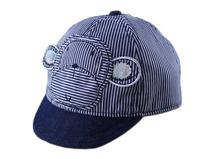 凯维帽业-小孩帽条纹棒球帽小猴 定做-RM034