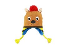 凯维帽业-儿童冬天毛毛球卡通护耳针织帽定做-RM038