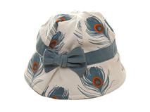 凯维帽业-儿童羽毛户外遮阳小边帽-RM044