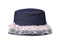 凯维帽业-蕾丝花边牛仔儿童小边帽-RM046