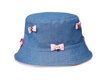 凯维帽业-蝴蝶结儿童小边帽多色定做-RM047