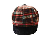 凯维帽业-儿童时尚格子棒球帽定做 -RW052