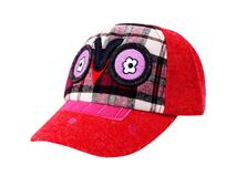凯维帽业-儿童卡通绣花格子棒球帽定做-RM056