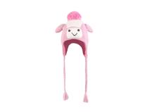 凯维帽业-儿童卡通毛毛球护耳针织帽定做-RM060