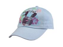 黑白视频体育直播-儿童纯色全棉卡通棒球帽-RM065