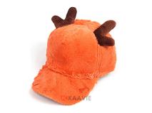 凯维帽业-毛毛鹿角棒球帽冬款定做 -RH066