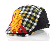 凯维帽业-儿童时尚格子鸭舌帽定做 -RM076