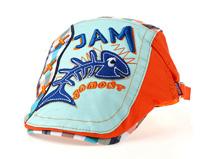 凯维帽业-儿童鱼骨撞色拼接急帽 鸭舌帽定做-RM078