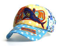 凯维帽业-儿童星星撞色拼接棒球帽 小清新款定做-RM080