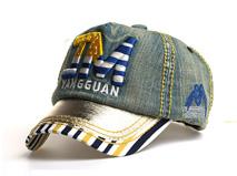 凯维帽业-牛仔布3D绣拼接棒球帽定做-RM081