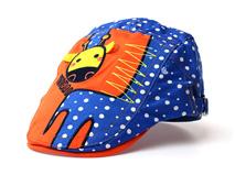 凯维帽业-儿童撞色波点卡通鸭舌帽定做-RM082