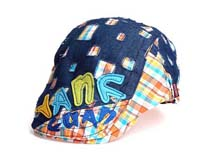 凯维帽业-做旧效果牛仔急帽鸭舌帽订做 -EM030