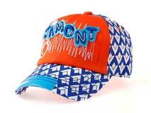 凯维帽业-混搭儿童撞色印花帽子订做 -BM058