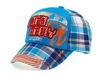 凯维帽业-格子撞色 印花绣花混搭棒球帽-BM060