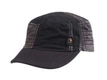 凯维帽业-水洗黑色男士军帽定做-JM033