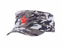 凯维帽业-迷彩五角星绣花军帽订做-JM036