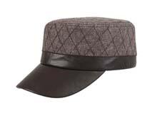 凯维帽业-PU皮男士军帽定做-JP041