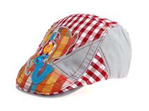 凯维帽业-时尚格子拼接鸭舌帽-EM031