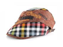 凯维帽业-儿童格子 棒球帽定做 -EM033