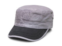 凯维帽业-简约撞色拼接平顶帽定做-JM043