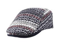 凯维帽业-混色针织保暖鸭舌帽 急帽定做-EM038