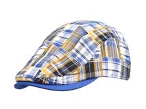 黑白视频体育直播-混色时尚格子鸭舌帽 年轻款定做-EM042
