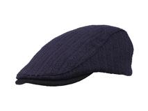 黑白视频体育直播-纯色简约针织鸭舌帽 急帽定做 -EM043