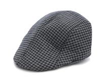 凯维帽业-千鸟格简约鸭舌帽 急帽定做 -EM045
