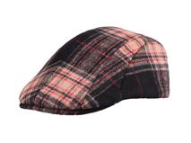 凯维帽业-羊毛时尚格子鸭舌帽 急帽定做 -EW051