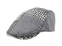 凯维帽业-撞色拼接格子鸭舌帽定做-EW052