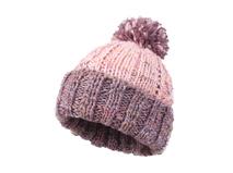 凯维帽业-撞色拼接毛毛球针织帽定做 小清新款-ZM039
