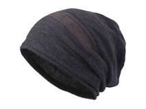 凯维帽业-男士混色简约套头针织帽定做-ZM040
