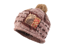 凯维帽业-2015新款贴布绣毛毛球针织帽定做-ZM050