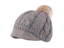 凯维帽业-大麻花时尚毛毛球针织帽 时装款定做-ZM052