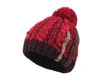 凯维帽业-新款混色毛毛球针织帽定做-ZM054