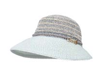 凯维帽业-女士撞色拼接时装草帽定做 -CZ032