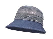 凯维帽业-撞色拼接透气草帽定做-CZ037