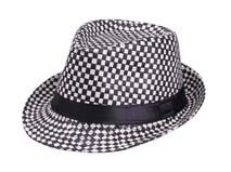 黑白视频体育直播-时尚格子定型草帽 爵士帽定做 -CZ045